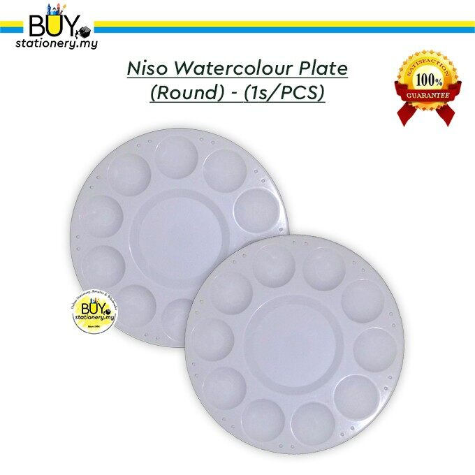Niso Watercolour Plate (Round) - (1s/PCS)