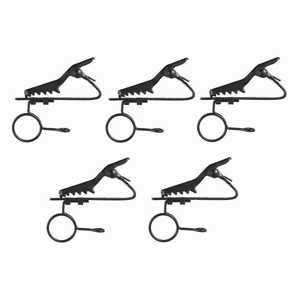 Best Selling Andoer EY-J04A 5pcs 10mm Wired Lapel Mic Microphone Tie Clip (2)