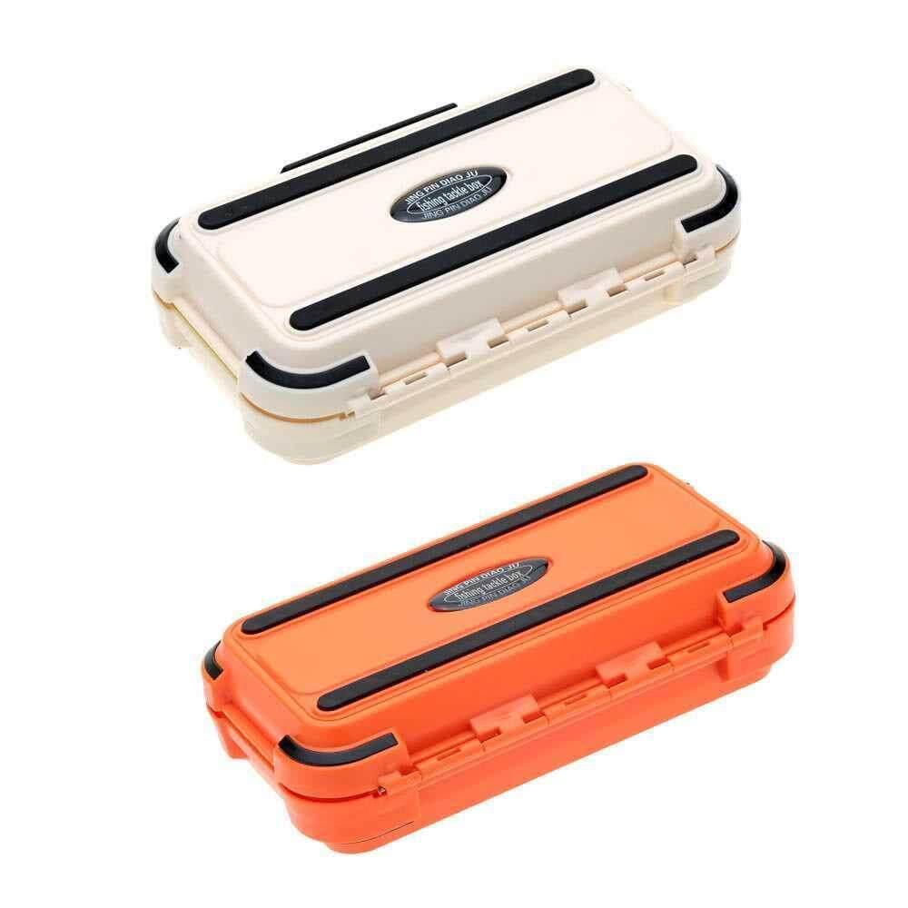 24 Compartments Double Layer Lure Box Fishing Tackle Box (orange)