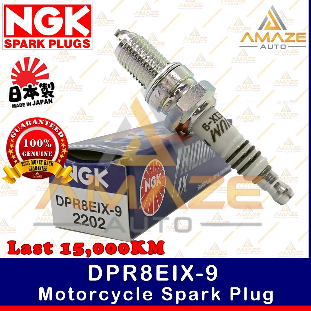 NGK Iridium IX Spark Plug DPR8EIX-9 - Last 15,000KM (Yamaha XVS Drag Star, Naza GTR, Honda Gold Wing, Cagiva Elefant, Nimota CK9)