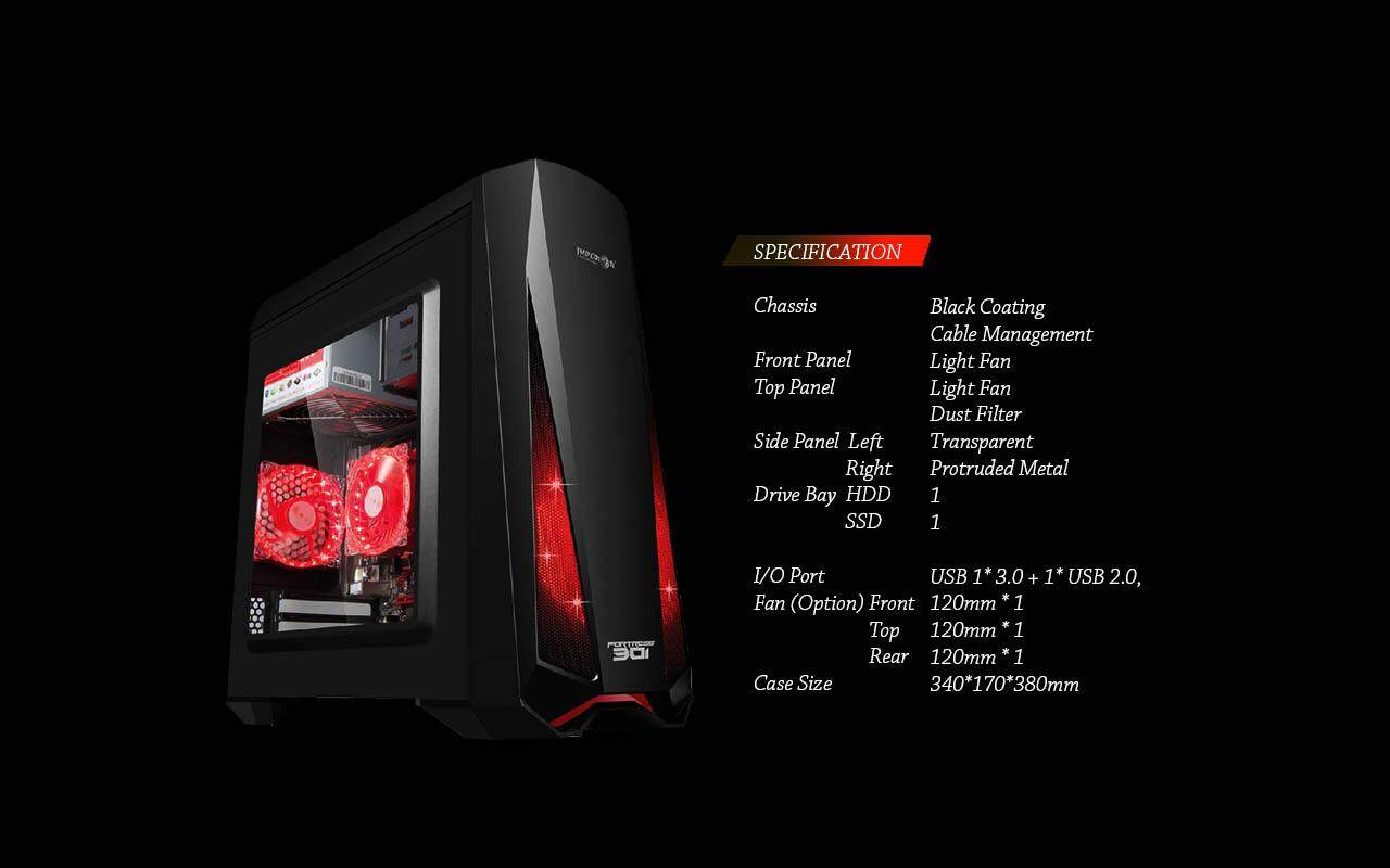IMPERION FORTRESS 301 GAMING ATX CASING