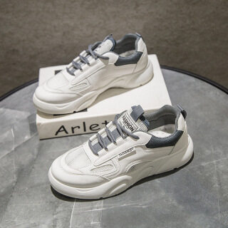 Small white shoes women s shoes breathable in autumn and summer 2021 new single shoes Korean sports dad ins fashion leisure H121 thumbnail