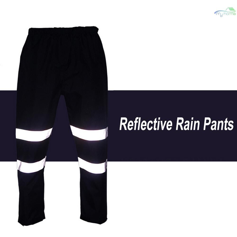 Protective Clothing & Equipment - SFVest High Visibility Reflective Rain Pants Waterproof Windproof Work Rain Trousers Outdoor - DARK BLUE-XL / DARK BLUE-L / DARK BLUE-M