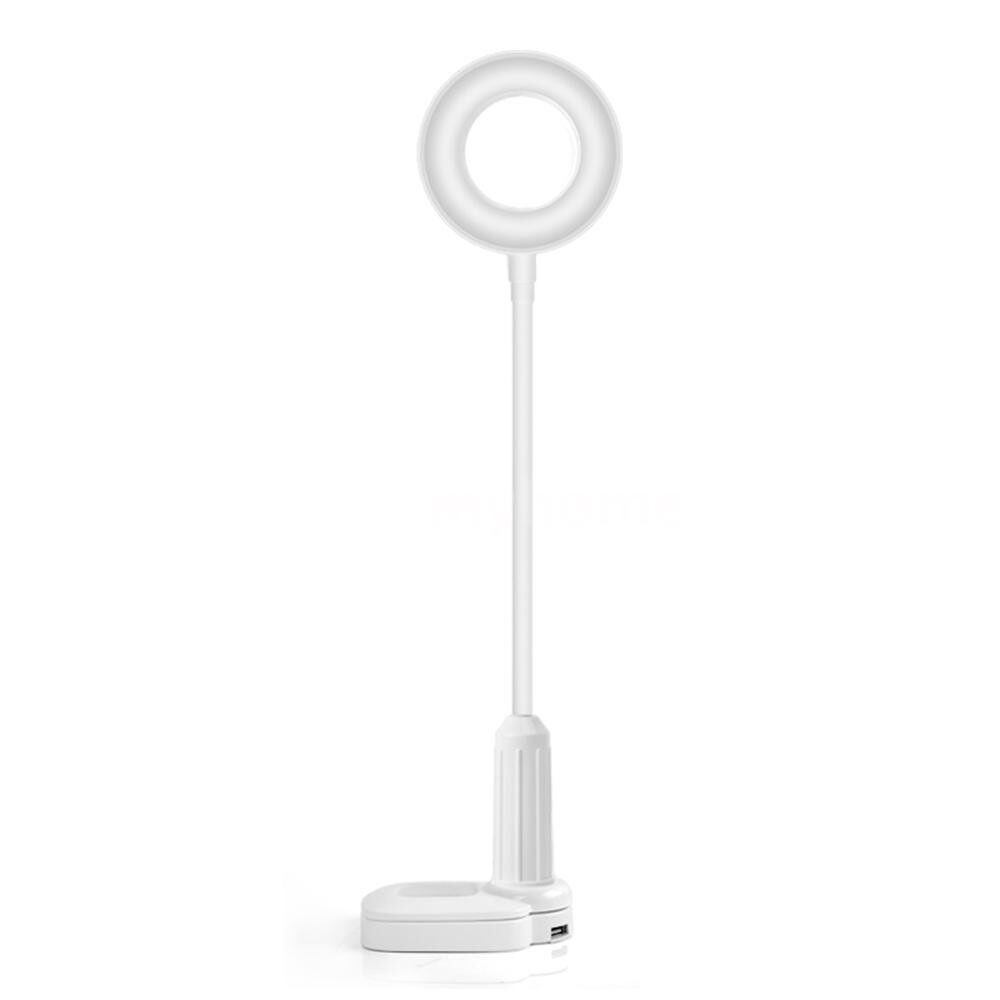 Table Lamps - DC5V 5W 40 LED Desk Clamp Clip Lamp Beside Light Sensitive To-uch Sensor Control 3 Light Colors - BEIGE