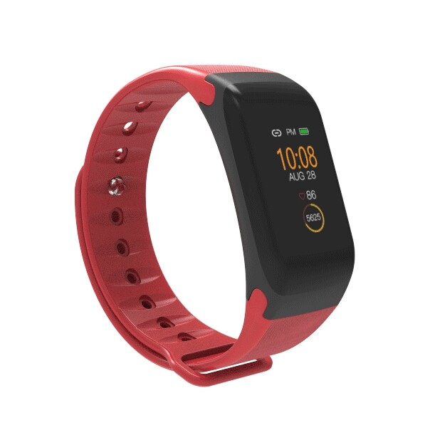 Smart Watch - Simple Style Heart Rate Blood Pressure Monitor Smart Pedometer Smart Watch - BLACK / BLUE / RED