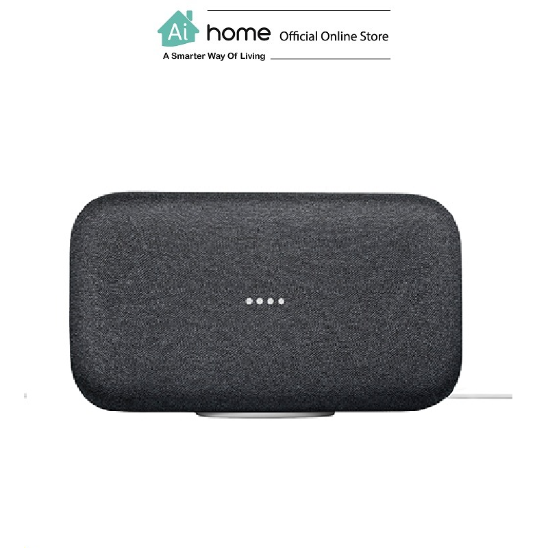 GOOGLE Home Max (Charcoal) [ Smart Speaker ] Build in Google Assistant with 1 Year Malaysia Warranty [ Ai Home ] GOOGLE Home Max