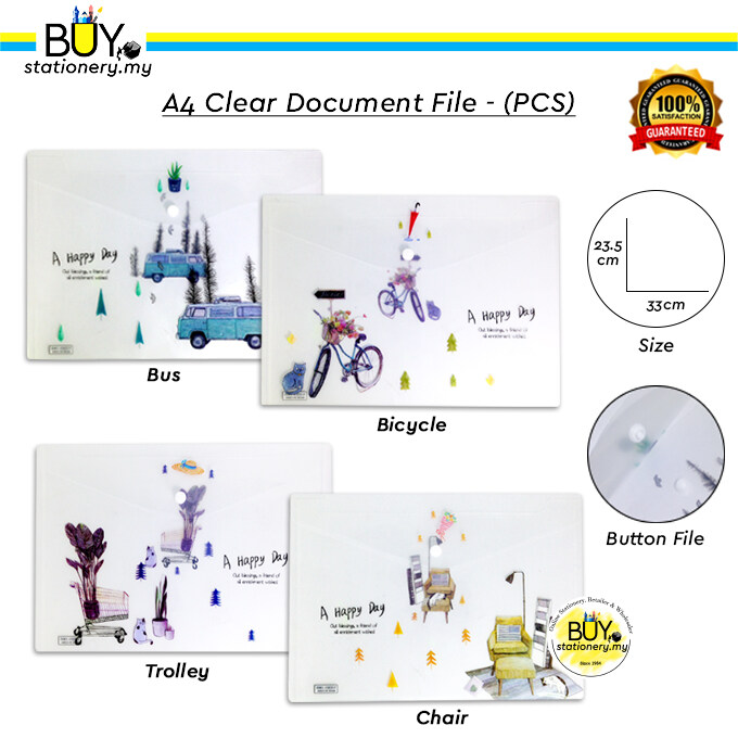 A4 Clear Document File - (PCS)