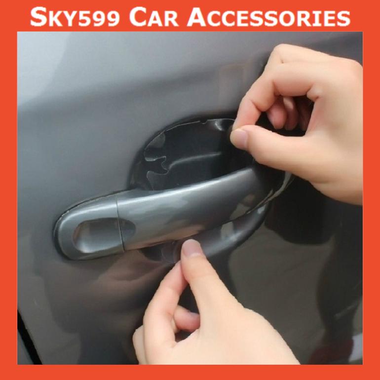 Universal Car Sticker Door Bowl Sticker Car Door Handle Protection Film【4pcs】
