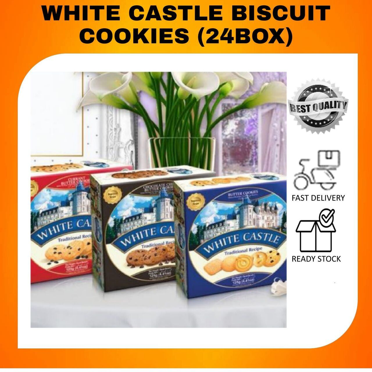 WHITE CASTLE BISCUIT 90G 1 CARTON (24 BOXES)