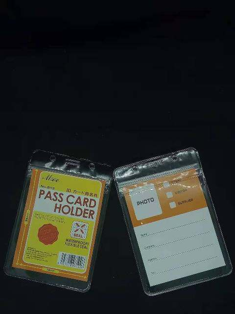 Pass Card Holder / Name Badge Pouch / PVC ID Holder / Card Holder / PVC Pouch