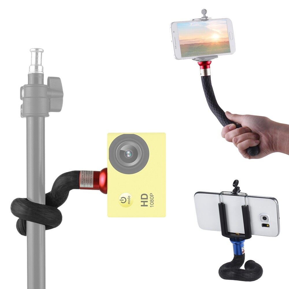 Phone Holder & Stand - xible Tripod Monopod Phone Camera Selfie Stick for iPh X 8 7s plus - BLACK( ) / BLUE( ) / RED( )