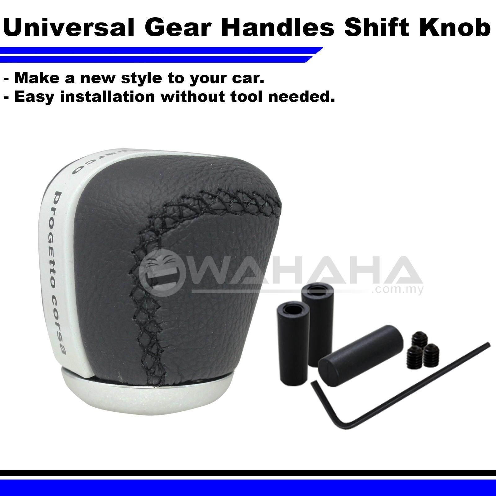 Car Leather Black Universal Manual Shift Knob Car Gear Stick SP-0727