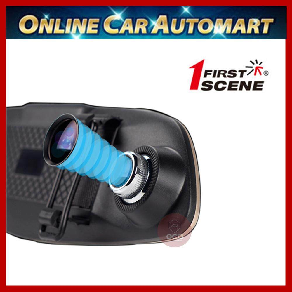 """First scene R1 HD 1080p 4.3"""" Screen HD Display Vehicle DVR Wide Angle Viewing With Reverse Camera (Free 16GB Micro SD)"""