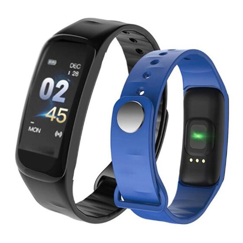 C1 Plus Smart Watch Bracelet Pulse Blood Pressure Measurement Heart Rate Monitor Fitness Tracker - BLACK / RED / GREEN / PURPLE / ORANGE / BLUE