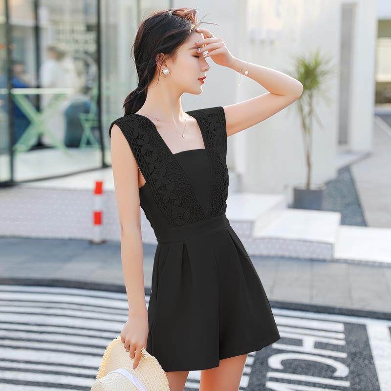 (Pre Order14 Days JYS Fashion Korean Style Women Jumpsuit Collection -5296278col529-6278--Black -S