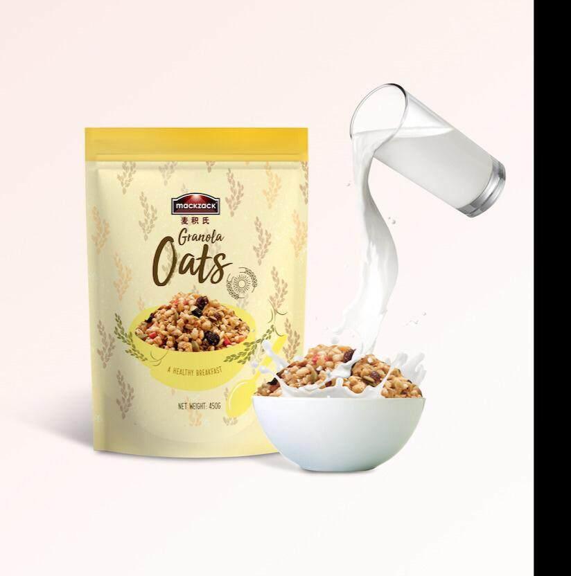 EGL Mackzack Granola Oats Halal Vegan/Oatmeal Cereal Fruit Seeds Multigrain Superfood Organic Breakfast