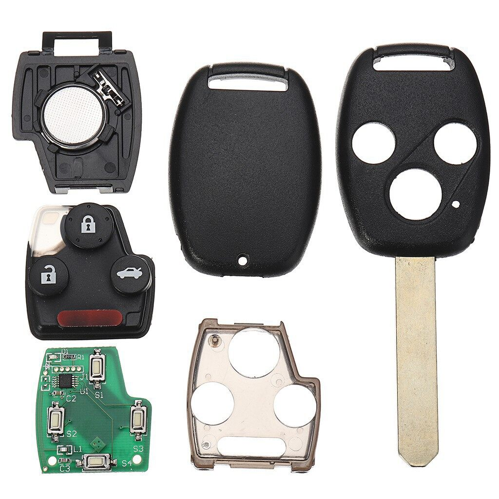 Automotive Tools & Equipment - 3 Button Remote Car Key Fob 433Mhz ID48 for Honda Accord 20032005,CRV - Car Replacement Parts
