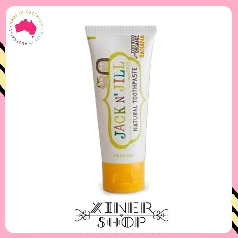 Jack N Jill Kids Toothpaste Organic Banana Flavour ( 50g )(Made in Australia)