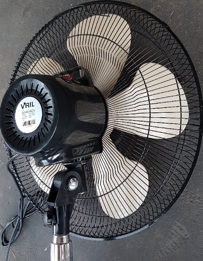 Stand fan blade cool cooling cooler clean cleaner filter floor long fast low tall adjust speed roll rolling roller high portable wheel electric motor wire light go bring easy noise air blower blowing blow frame net cover in door new nozzle base take