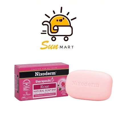 NIXODERM THERAPEUTIC ROSE SOAP BAR (100G)