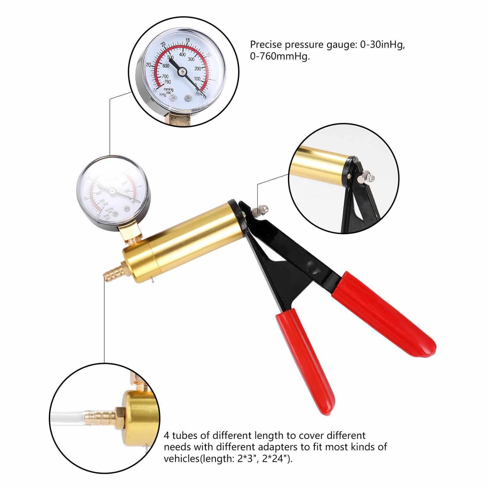 19pcs 2in1 Professional Car Vacuum Pump Brake Fluid Replacement Tool Set (Standard)