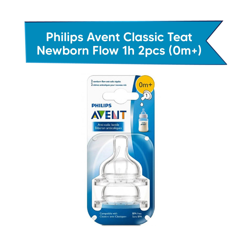 Philips Avent Classic Teat Newborn Flow 1h 2pcs(0m+)