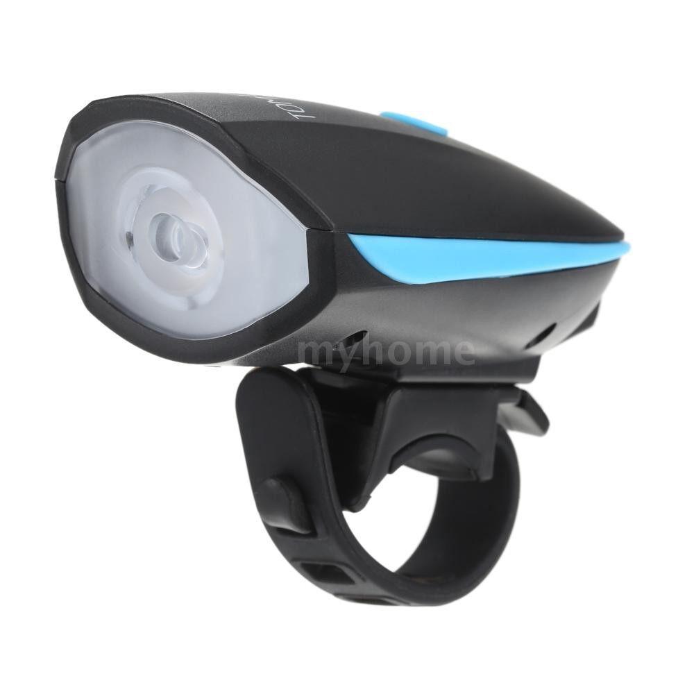 Lighting - Super Bright LED Bike Front Light & Tail Light 5W 250LM 120dB Loudspeaker 6 Lighting Modes - #