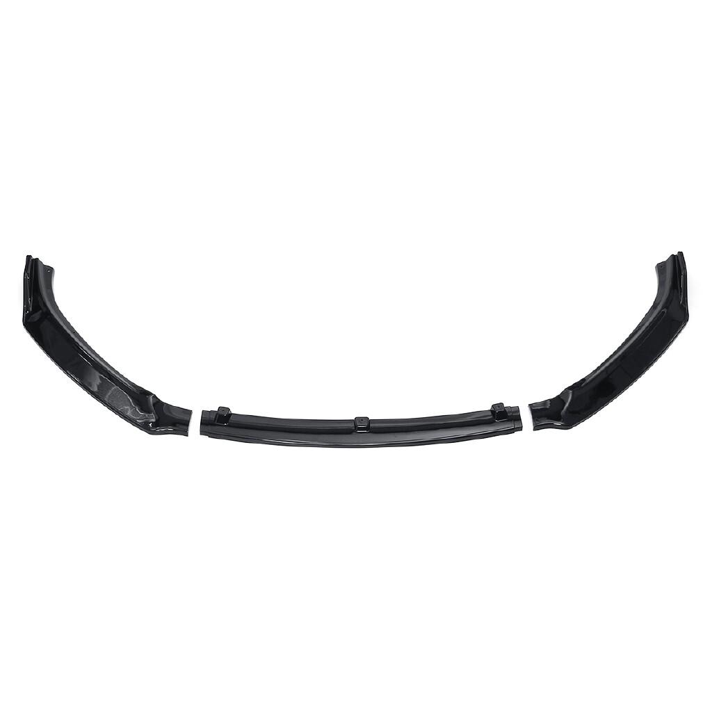 Car Accessories - 3 PIECE(s) Bright Black PP Front Bumper Lip Spoiler Cover Trim For Mazda 3 Axela 14-17 - Automotive