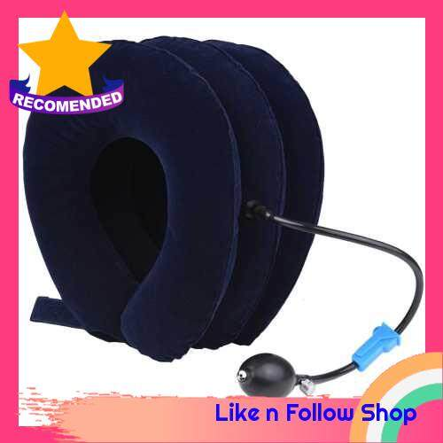 Pinched Nerve Neck Stretcher Cervical Traction Device Inflatable Adjustable Neck Stretcher Collar Instant Pain Relief for Chronic Neck and Shoulder Pain (Blue)