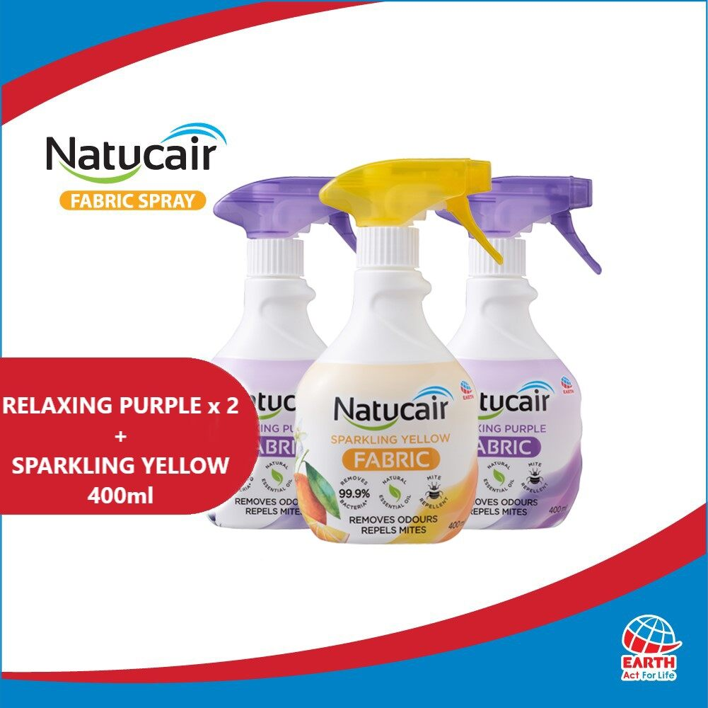Natucair Fabric Spray Assorted Variants Bundle of 3 [400ml x3]EHB000012g