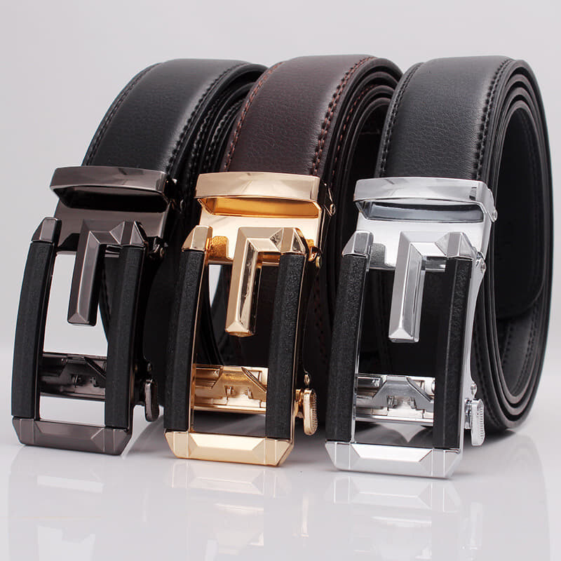(NEW)[Msia Warehouse Direct] 100% Cowhide Leather Belt 2020 Korean Series 3D Men Automatic Buckle Belt Perfect Gift For Love One (can request box) Laser Zinc Alloy Suitable For Formal Casual Wear Belt Long Lasting Tali Pinggan Lelaki Kulit Halal