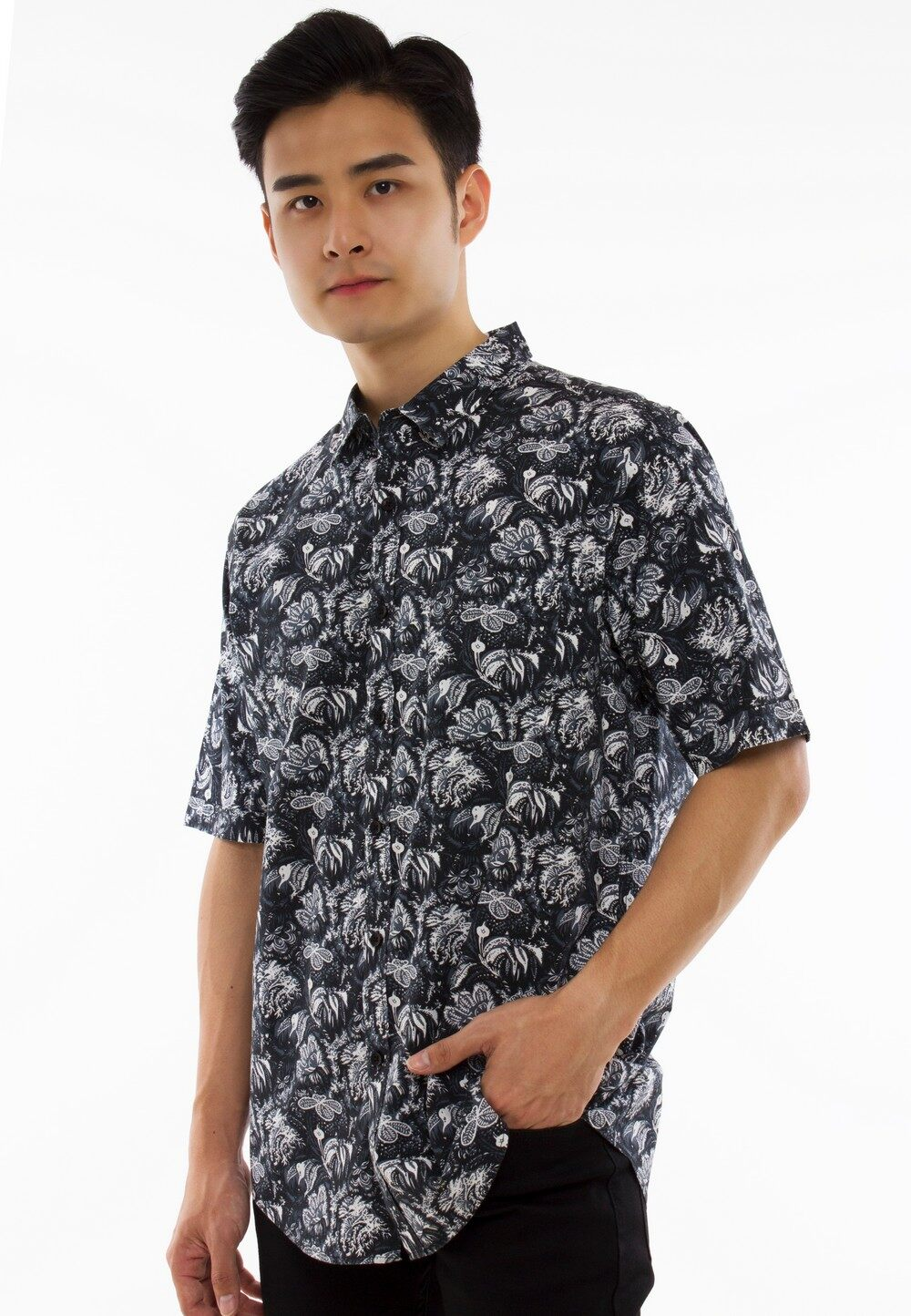 Exhaust Short Sleeve Shirt With Printing