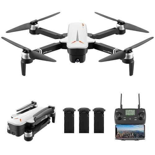 8811 RC Drone with Camera 4K Drone 5G Wifi Brushless RC Quadcopter GPS Optical Flow Positioning Way-point Flight Palm Control MV Production Gesture Photo Video Follow Me 3 Batteries (White)