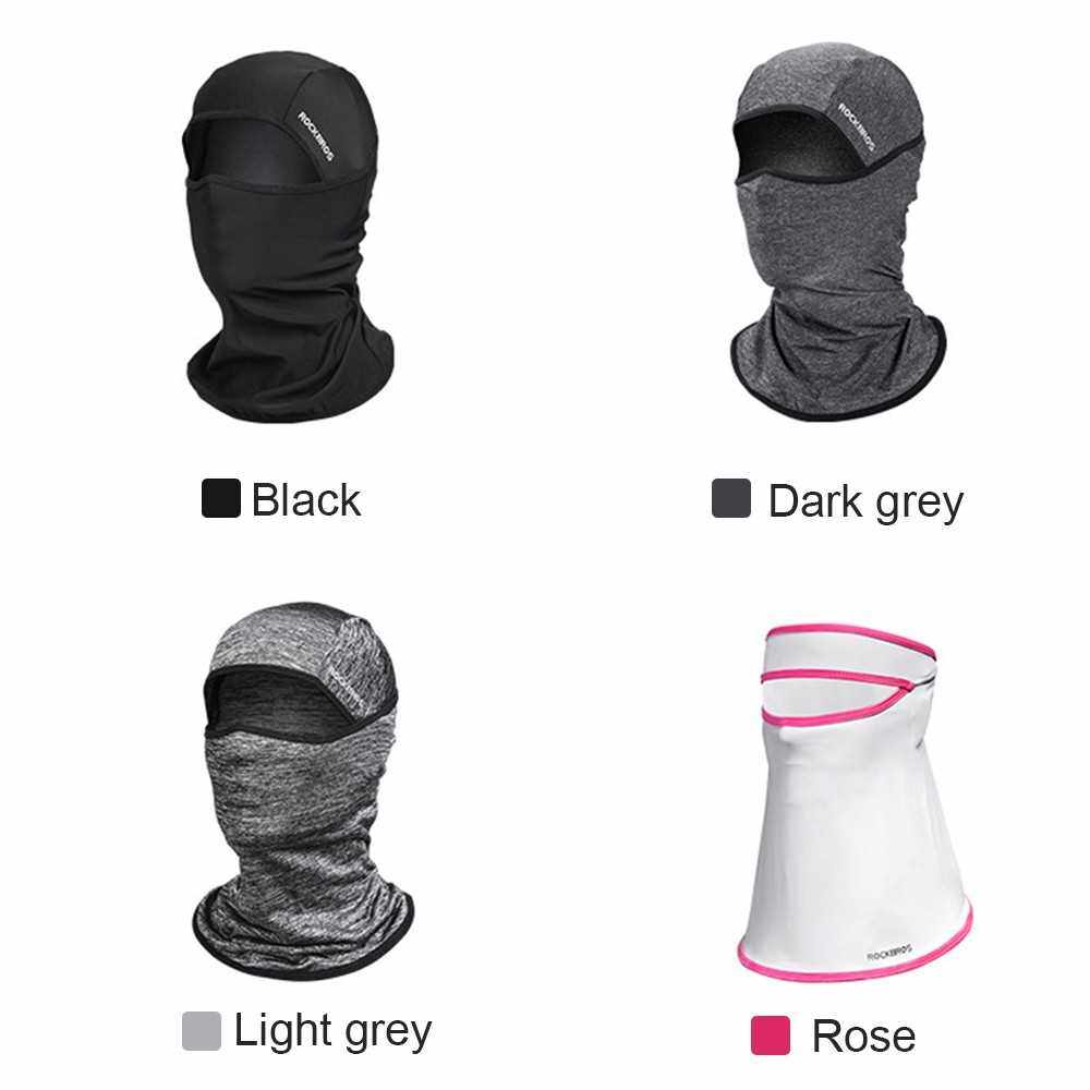 Cycling Face Mask Motorcycling Neck Warmer Hood Cooling Riding Head Wrap Ice Silk Sunlight Protection Cycling Headgear (Rose)