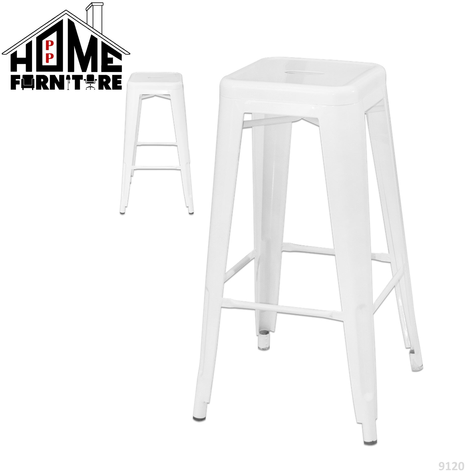 PP HOME Metal Bar stools/ Pub chair/ High bar chair/High chair stool/ Dining chair only/ Najis bar/  Kerusi bar tinggi bangku 铁酒吧椅子/ 长脚椅/ 高脚椅/餐桌椅9120