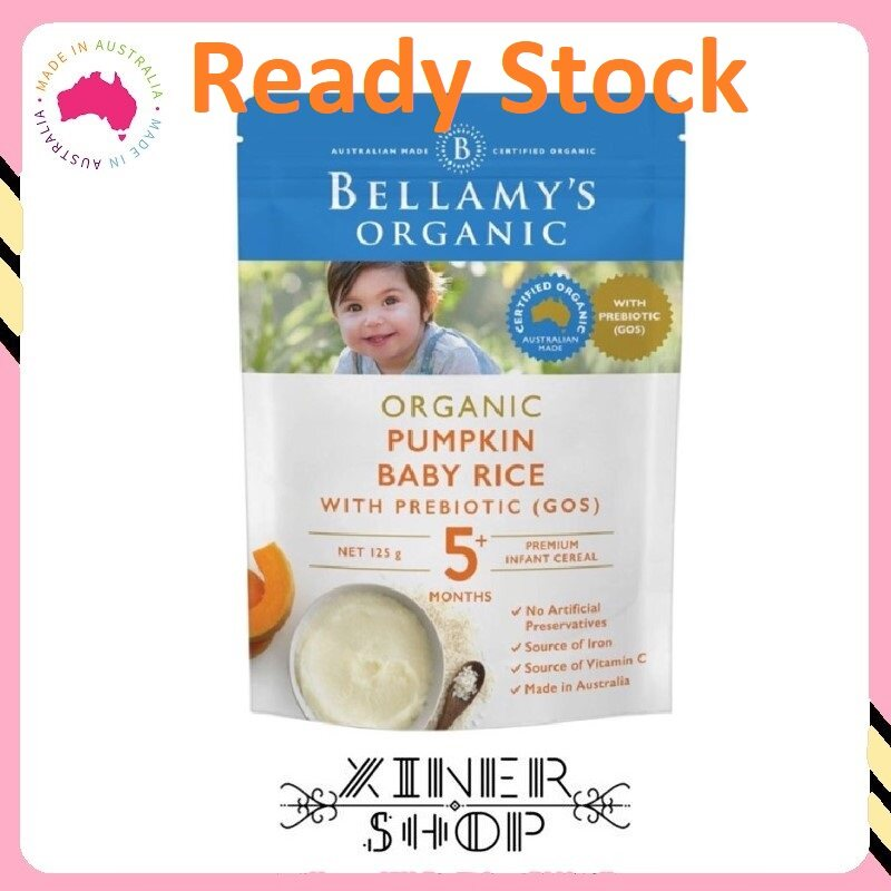 [Ready Stock EXP: 01/2021] Bellamy 's Organic Pumpkin Baby Rice ( 125g )(Made in Australia)