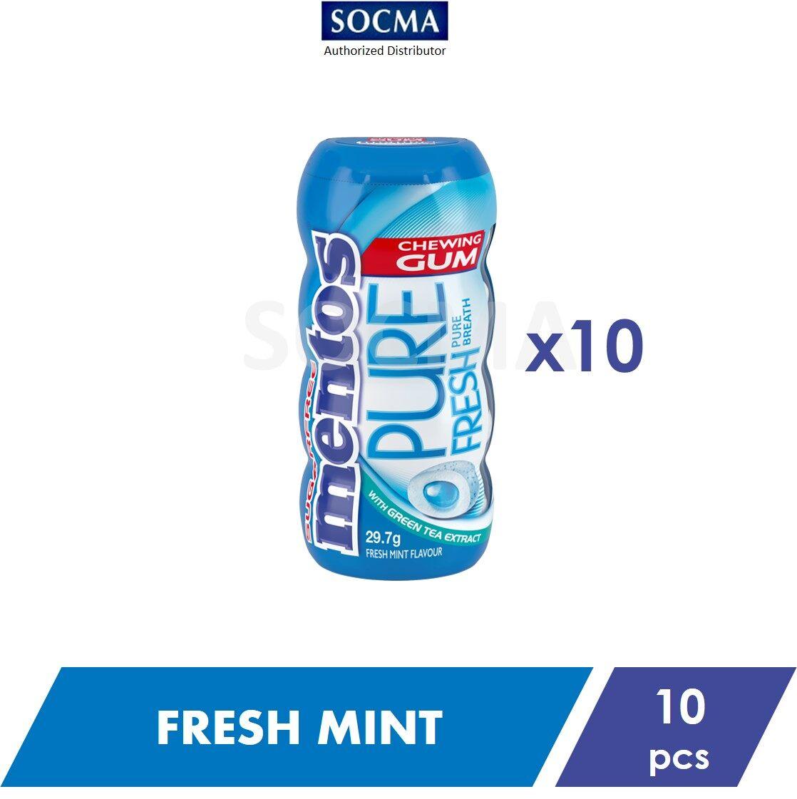 Mentos Pure Fresh Pocket Bottle Gum Fresh Mint 29g [10]