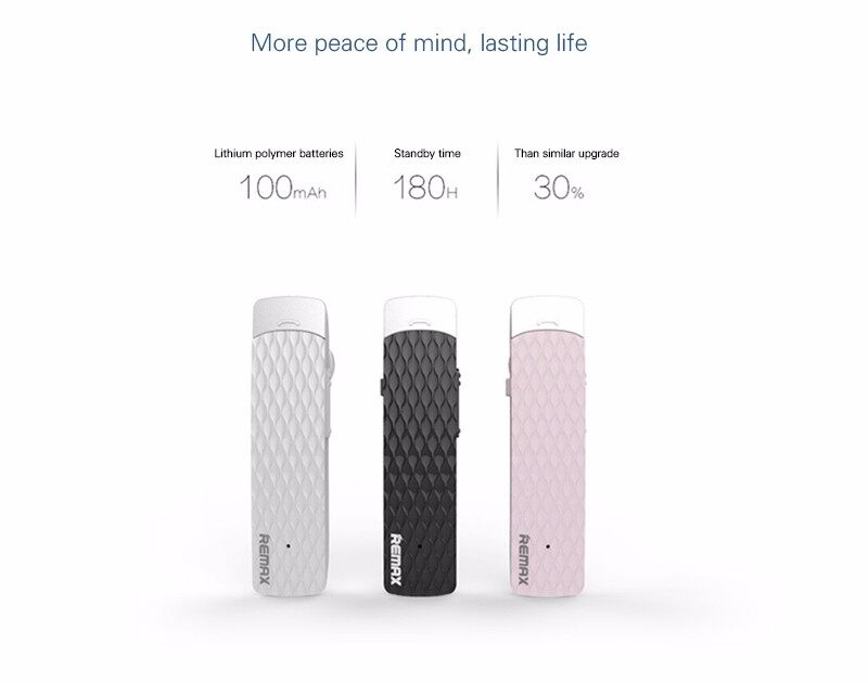 100% Original Remax RB - T9 HD Voice Bluetooth Earphone Headset RB-T9