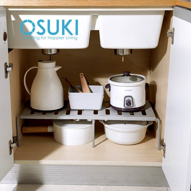 OSUKI Kitchen Cabinet Space Saving Rack 36 - 69cm Extendable