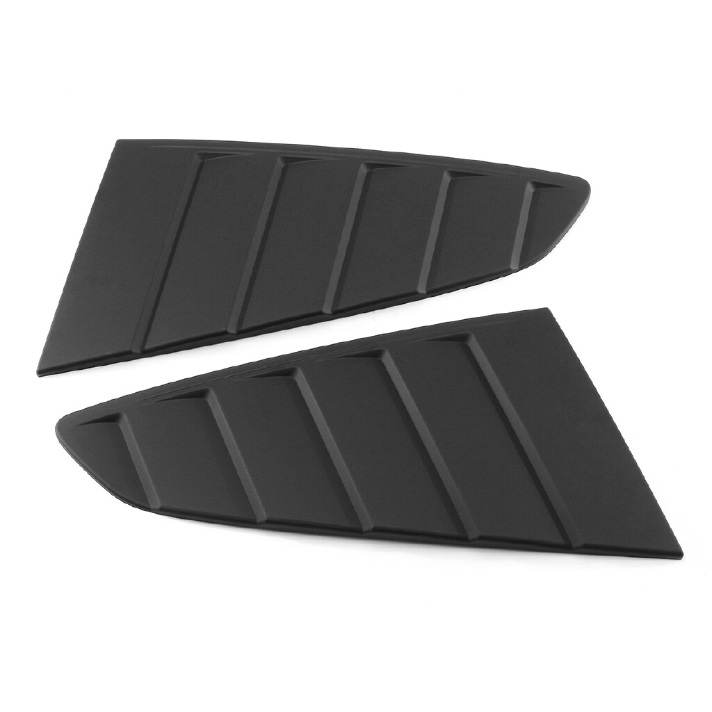 Engine Parts - Window Quarter Louver Side Vent Scoop Cover C Style For 2015 -18 Ford Mustang GT - Car Replacement