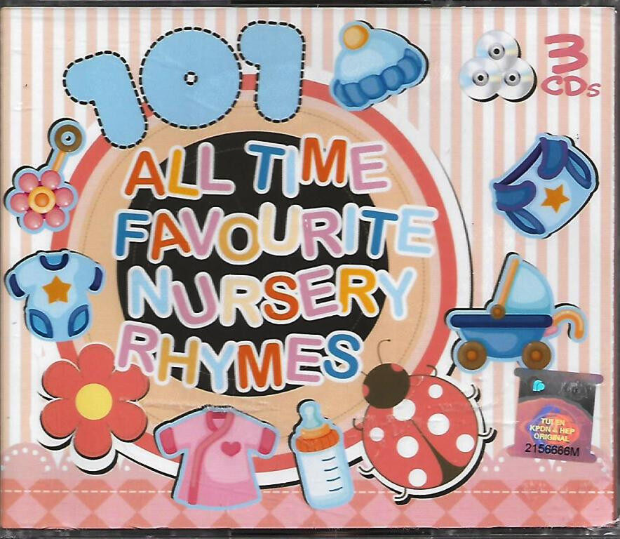 101 All Time Favourite Nursery Rhymes 3CD New Born to Preschool