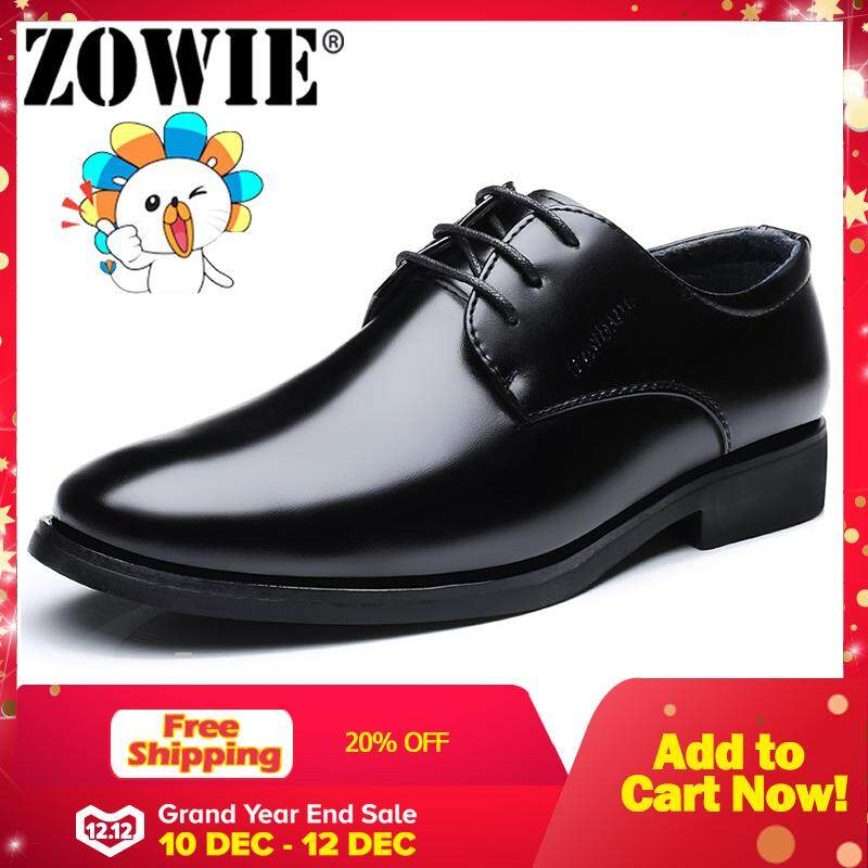 ZOWIE Men Formal Shoes  Fashion  Leather Shoes Flats Oxford Shoes