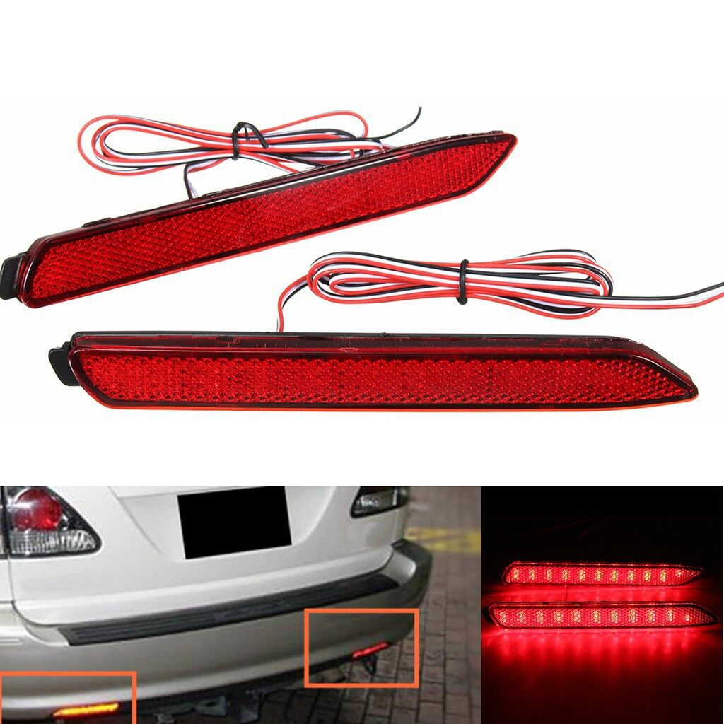 Car Lights - Rear Bumper Reflector Lamp Tail Brake Stop Light For Toyota Camry Lexus GX47 - Replacement Parts
