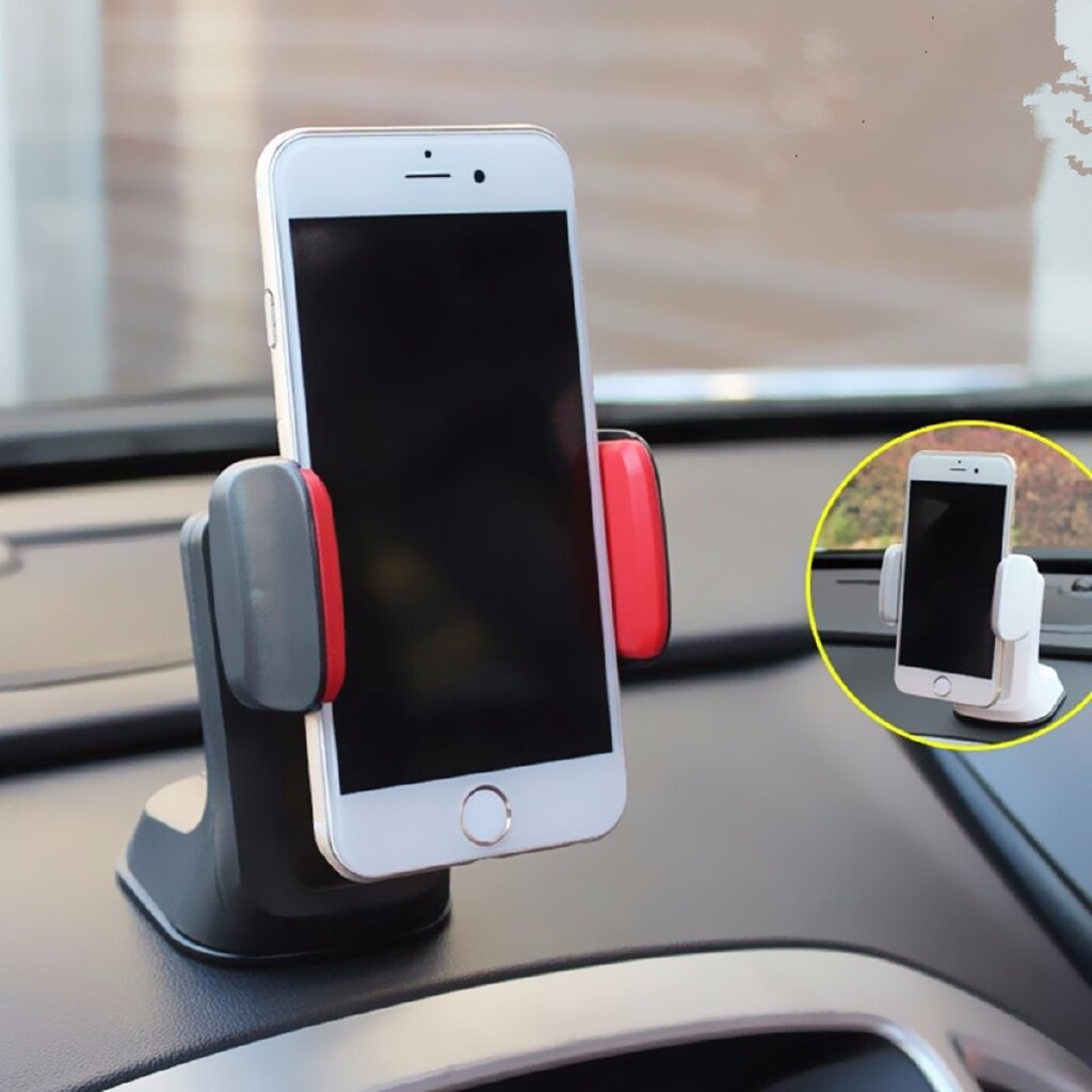 Phone Holder & Stand - Universal 360 Car Windshield Suction Holder Mount Cup Stand For Cell Phone - BLACK / WHITE