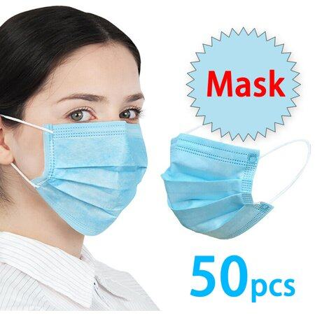 Ready Stock 24 hours shipping3 Ply Disposable Facemask 50pcs C0R0NAVIRUS(C0VIT19)Protection