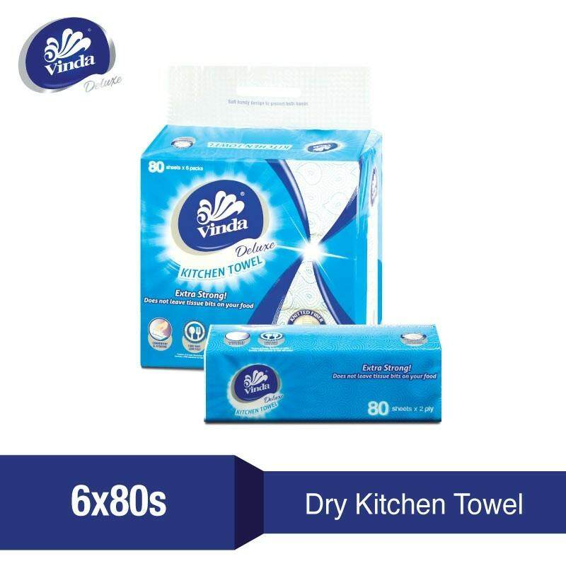 Kitchen Towel in Soft Pack format 6 x 80s READY STOCK