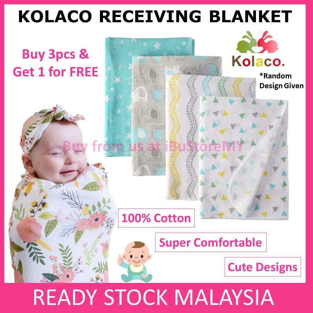 Cotton Baby Blanket/Swaddle/Bedung Bayi/Selimut Bayi BUY 3 FREE 1!