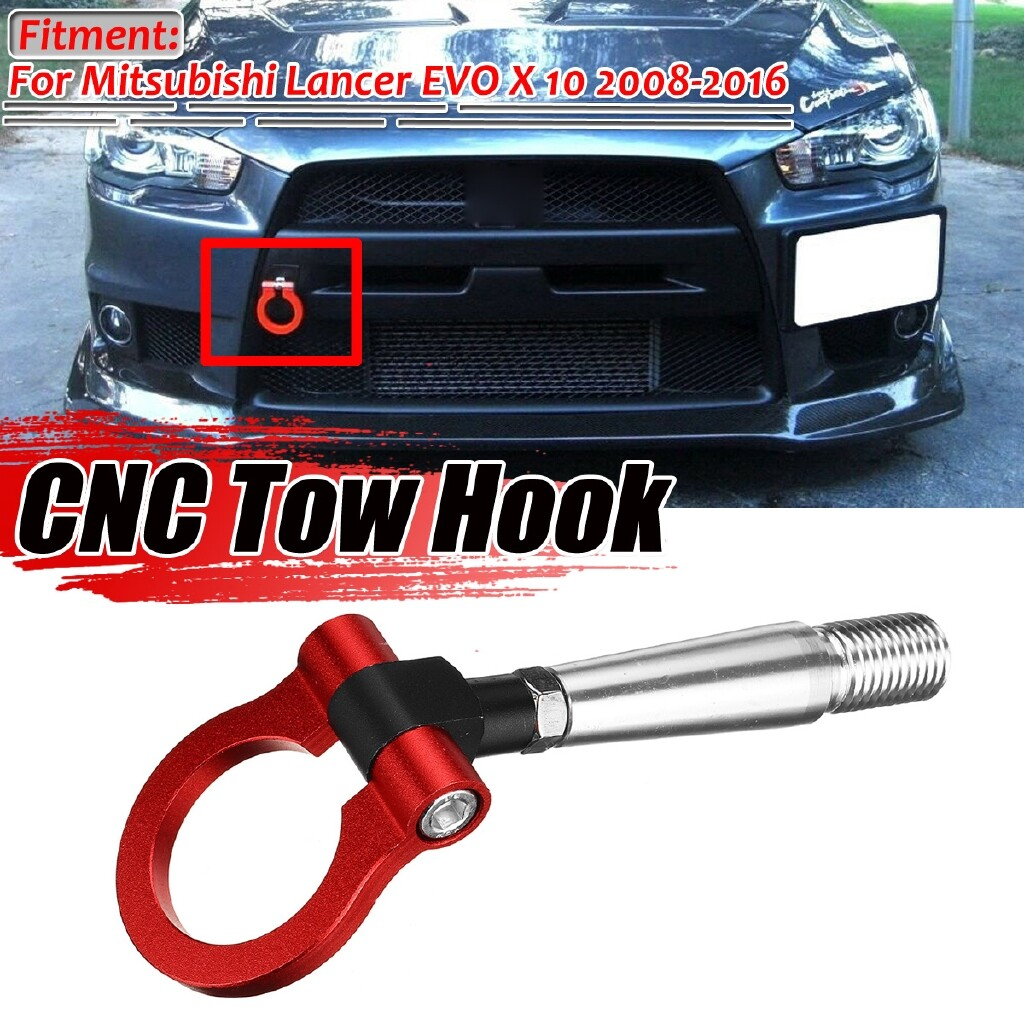 Automotive Tools & Equipment - RED ALUMINUM SCREW RACING TOW HOOK Front Rear FOR Mitsubishi Lancer Evo EX - Car Replacement Parts