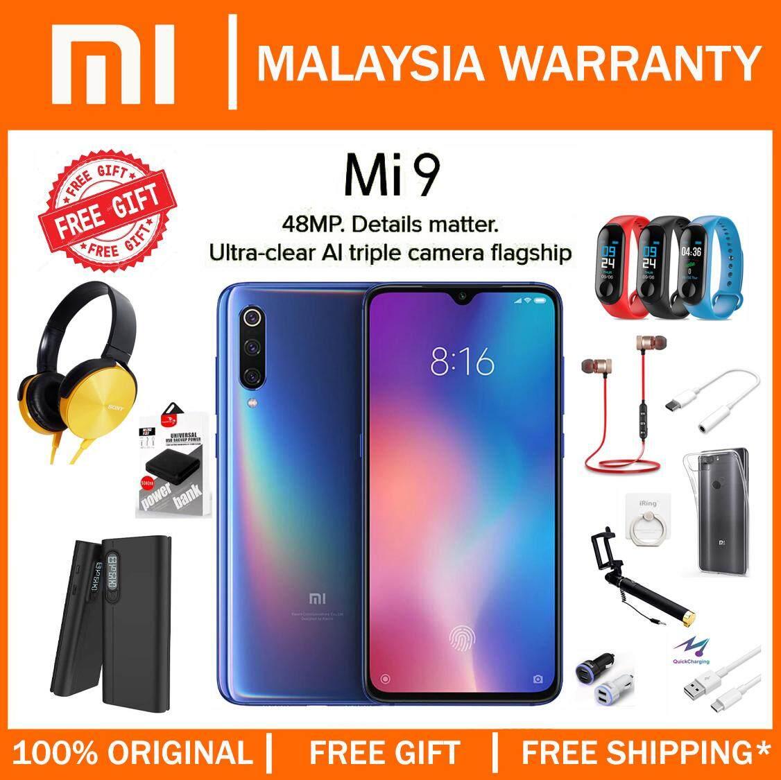[MY SET] Xiaomi Mi 9 (6GB+128GB) Smartphone Original Malaysia Warranty