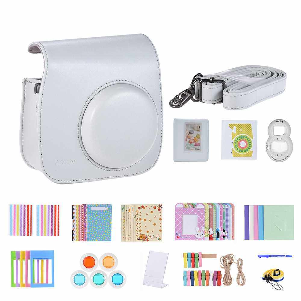 Andoer 14 in 1 Instant Camera Accessories Bundle Kit (White)